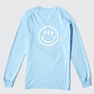 Glossier Smiley Face Long Sleeve Shirt